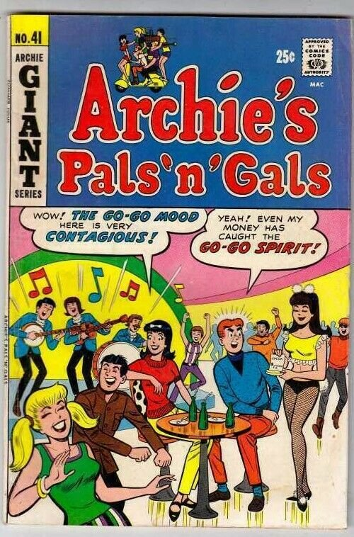 Archie's Pals 'n' Gals # 41 Strict VG/FN Mid-Grade Cover Playboy Club, Veronica