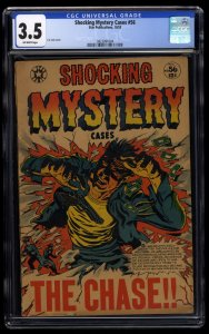 Shocking Mystery Cases #56 CGC VG- 3.5 Off White L.B. Cole Cover!