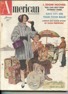 American Magazine 1/1955-Hugh Pentecost-pulp fiction-classic car ads-J Edgar ...