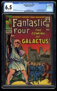 Fantastic Four #48 CGC FN+ 6.5 White Pages 1st Galactus Silver Surfer!