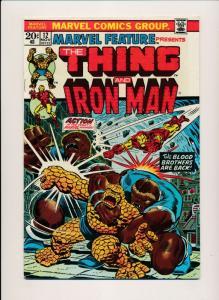 Marvel THE THING & IRON MAN Vol 1.#12 Nov 1973 Early app of THANOS F/VF (PF427)