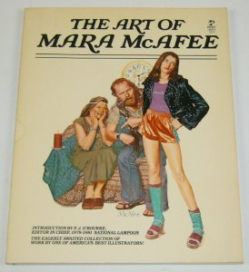 the Art of Mara McAfee SC intro by p.j. o'rourke of national lampoon 1981 1st