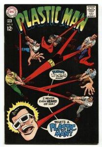 PLASTIC MAN #8 comic book 1968-DC-BLACK COVER VF+