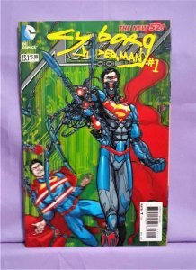 Superman ACTION COMICS #23.1 3-D Lenticular Cyborg Superman #1 Cover (DC, 2013)!