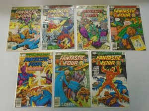 Fantastic Four lot 14 different 40c covers from #206-221 avg 6.0 FN (1979-80)