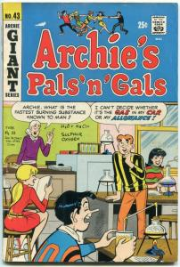 Archie's Pals n Gals #43 1967-Dan DeCarlo cover Betty & Veronica VG/F