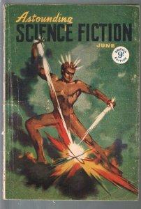 Astounding Science Fiction British Edition 6/1948-sci-fi pulp fiction-Sturgeo...