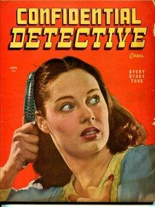 Confidential Detective 6/1946-Black Magic-firebug-pulp crime thrills-VG
