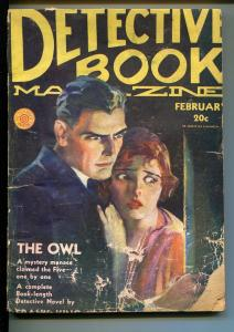 DETECTIVE MAGAZINE  2/1931-HORRIFIED WOMAN COVER-HARD BOILED CRIME PULP-fr/good