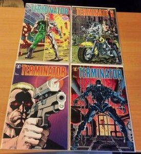 The Terminator 1-4 Complete Set Run! ~ NEAR MINT NM ~ 1990 Dark Horse Comics