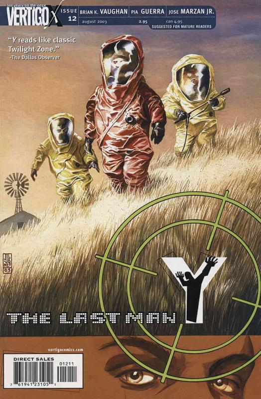 Y: The Last Man #12 VF/NM; DC/Vertigo | combined shipping available - details in