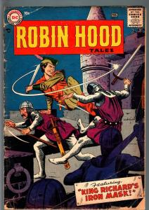 ROBIN HOOD TALES #7-FIRST ISSUE-1957-DC-ANDRU AND ESPOSITO COVER ART-GLOSSY G