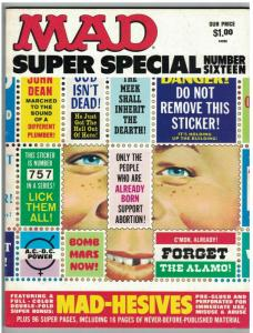 MAD SPECIAL (1975) 16 VG+ with MAD HESIVE STICKERS