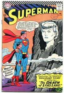 SUPERMAN #194 1967-DC Silver Age- Death of Lois Lane FN