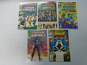 What If? lot 5 different Captain America issues avg 7.0 FN VF