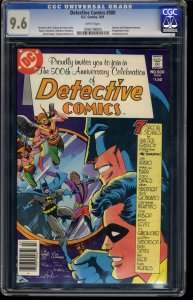 Detective Comics #500 CGC NM+ 9.6 White Pages