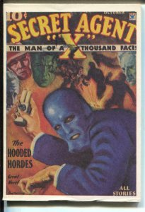Secret Agent X 10/1934-Hanos-pulp reprint-The Hooded Hordes-VF