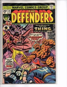 Marvel Comics (1972) The Defenders #20 The Thing, Dr. Strange Sal Buscema Art
