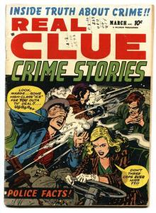 Real Clue Crime Stories Vol. 7 #1-1952-Violent shootout/gunmoll cvr