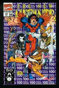 THE NEW MUTANTS #100 1991-ROB LIEFELD-1st X-FORCE-FINAL ISSUE VF/NM