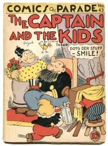 Comics On Parade #43 1943 -Captain and the Kids incomplete