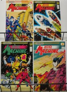 JUSTICE MACHINE (1987 C) 1- 4  1st 4 COMICO