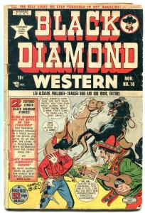BLACK DIAMOND WESTERN #16 1949 LEV GLEASON WOLVERTON G-