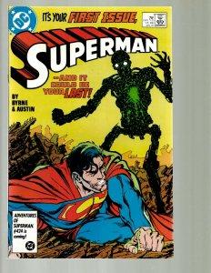 12   DC Superman Comics # 1 2 3 4 5 6 7 8 9 10 11 12 GK45