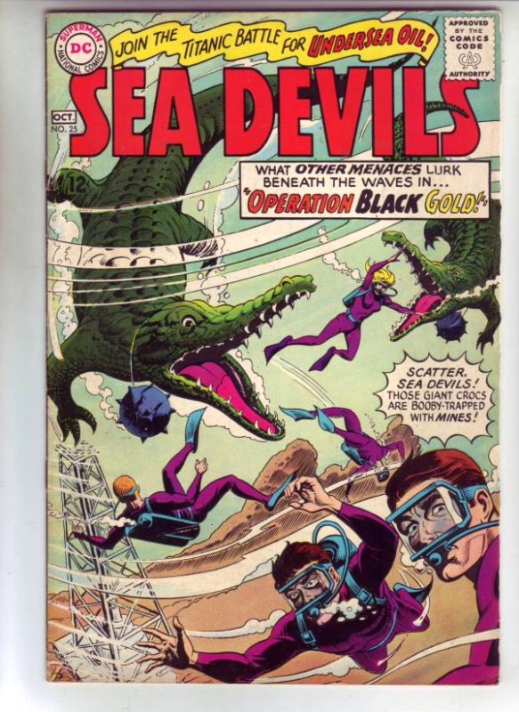 Sea Devils #25 (Mar-66) FN/VF+ High-Grade Sea Devils (Dane Dorrence, Biff Bai...