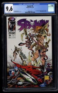Spawn #9 CGC NM+ 9.6 White Pages 1st Angela!