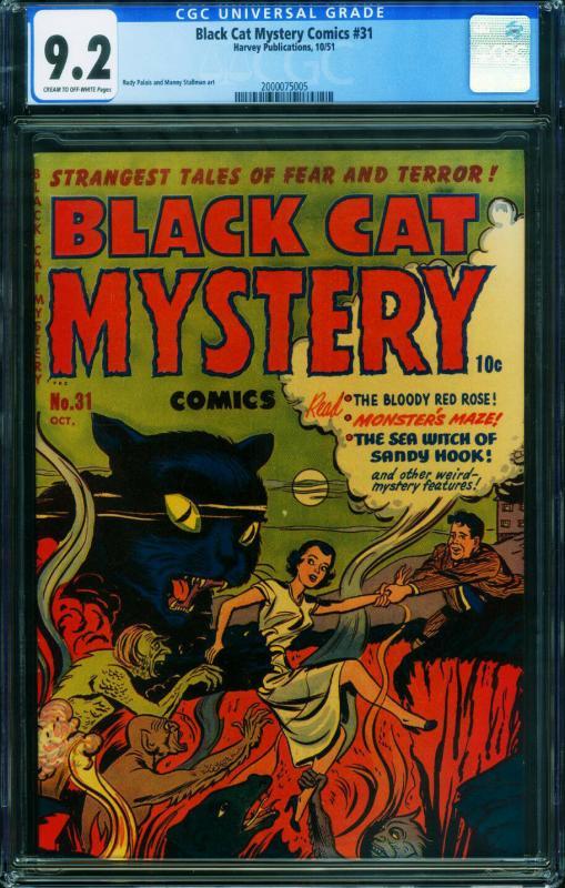 Black Cat Mystery #31 CGC 9.2 1951 Pre-Code Horror 2000075005