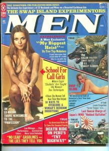 MEN-MAR 1973-WWII-CHEESECAKE-POLLEN-BARR-PULP THRILLS-vg