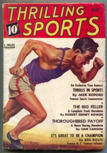 Thrilling Sports Pulp May 1937- RED ROLFE fair