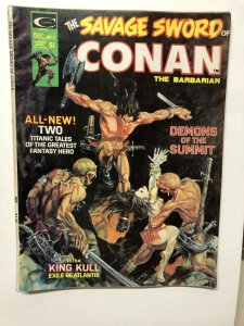 SAVAGE SWORD OF CONAN 3 VG Dec 1974 Kaluta cvr, Barry Smith Kull story, Kane
