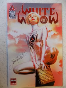 WHITE WIDOW # 1 C2E2 COSPLAY VARIANT SIGNED JAMIE TYNDALL