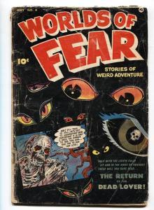 WORLDS OF FEAR #4 pre-code horror comic 1952-FAWCETT- Zombie-Eyes cover