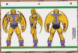 Official Handbook of the Marvel Universe Sheet - Gargoyle