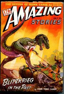 Amazing Stories 7/1940-dinosaur tank attack-J Allen St John-276 pages-FN+