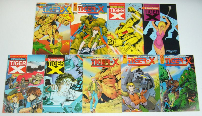Tiger-X #1-3 complete series + vol. 2 #1-4 + special + 2nd print - ben dunn set