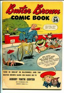 Buster Brown  #34 1940's-adventure-humor-Reed Crandall art-VG-