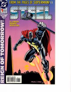 Lot Of 2 DC Comic Book Steel #1 and Superboy #53 AH12