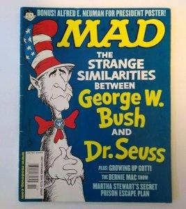 MAD Magazine Nov 2004 # 447 Dr Seuss The Cat In The Hat George Bush Bernie Mac