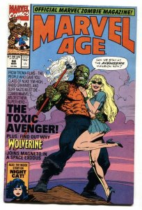 Marvel Age #98-1991-Toxic Avenger preview. -comic book