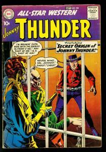 All Star Western #108 1959- DC Comics- Johnny Thunder origin issue- VG/FN