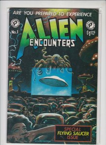 ALIEN ENCOUNTERS #1 FANTACO PUB. 1981 VF / NEVER READ