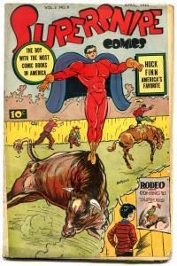 Supersnipe Vol. 2 #8 1945- Huckleberry Finn- Golden Age VG-