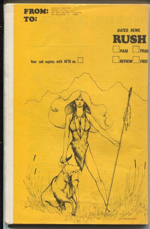 AFTA #1 1978-Marcinko-1st issue-George Perez-Red Sonja-fanzine reviews-VG/FN