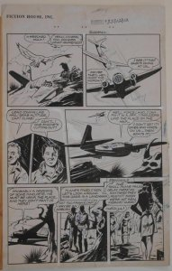 CHARLES SULTAN original art, RANGERS COMICS #32, pg 15, Sky Rangers, 1946