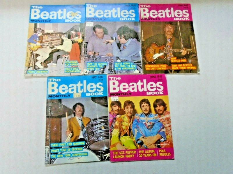 Beatles Book Monthly Magazine Lot 10 Different (1987)