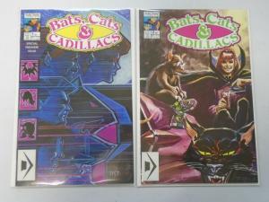 Bats Cats and Cadillacs set #1+2 8.0 VF (1990)